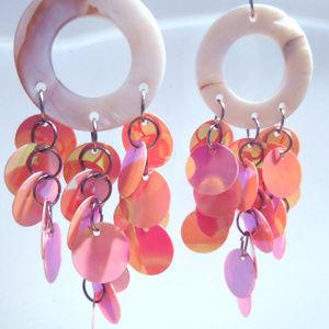 Pink Glam Dreamcatcher Chandelier Earrings gifts
